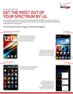 LG Spectrum Ice Cream Sandwich Update VS920ZV7 Approved by Verizon!
