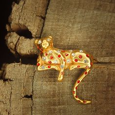 Brown leopard brooch pin antique styled vintage by Craft365.com ~ US$11.90