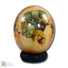 Ostrich egg Big Five Decoupage - African Attitude - Africa Shop 24