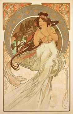 Alphonse Mucha (1860-1939). The Arts: Music. 1898. Colour lithograph. Mucha Museum - Prague - Czech Republic