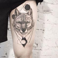 One more wolf with lines/ Ещё один волк и линии #valerakot