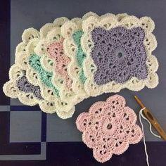 "Suvi's Crochet: Pernille's Square (""granny square"" baby blanket) - free crochet pattern"