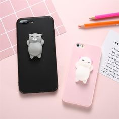 Squishy 3D Cat Phone Case For iPhone