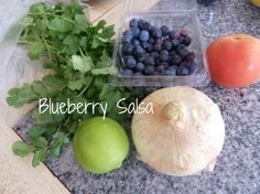Blueberry Salsa recipe from #fancylittlethings.com