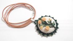 Ethnic necklace, peach necklace, ethnic style necklace by GabileriaHM on Etsy