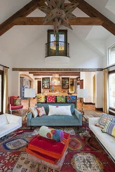 Hacienda Chic Residence eclectic living room