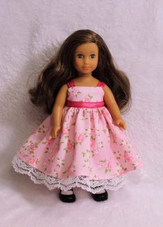 Mini AG 6.5 inch Doll Pink Dress and Shawl by SewSweetbyJoAn