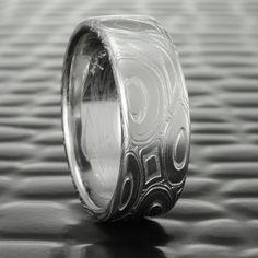 Damascus Ring, Damascus Steel, Womens Wedding Bands, Wedding Rings For Women, Gold Liner, Pool Wedding, Alternative Wedding Rings, Handmade Wedding, Diamond Wedding Rings