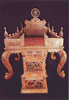During the reign of Fathali Shah and by his order, a great throne was made under the supervision of Nezamoldoleh Mohammad Hossein Khan Sadr Isfahani, the governor of Isfahan, using gold and loose stones from the treasury. As a motif of the sun, encrusted with jewels, was used on the top of the throne, it became known as the Sun Throne. The throne was later called the Peacock Throne.