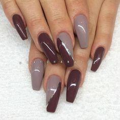 Påfyllning/förstärkning på naturliga naglar med Little Stone 140 och Stylish Brown 075 från Semilac/www.nagelbutiken.se ...