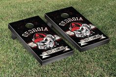 University of Georgia Bulldogs Rustic Established Banner Cornhole Game
