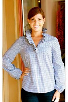 Elizabeth McKay Elizabeth Shirt - Blue Gingham | on my FALL 2013 MUST HAVE LIST! www.scsugar.com