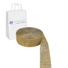 Sparkles Make It Special 8 Row Diamond Rhinestone Mesh 5 Yards Wedding Party Decoration Trim Wrap Gold -- Check this awesome product by going to the link at the image.Note:It is affiliate link to Amazon.
