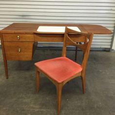 vintage office furniture for sale. SALE - Mid Century Wood Office Desk Modern, Eames, Retro | Wish List Pinterest Desk, Desks And Vintage Furniture For Sale C
