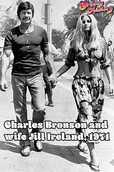 Charles Bronson and Jill Ireland - 1971 More memes, funny videos and pics on Hollywood Stars, Old Hollywood, Hollywood Actor, Classic Hollywood, Wow Photo, Films Cinema, Actrices Hollywood, Famous Couples, Bruce Lee