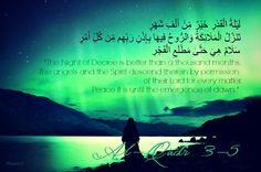 Laylat Al-Qadr in the Qur'an.