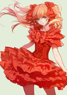 ask (askzy) blue eyes breasts brown hair dress frilled skirt frills hair ribbon long hair looking at viewer neon genesis evangelion pantyhose red red dress red ribbon ribbon simple background skirt small breasts smile solo soryu asuka langley twintai Manga Girl, Manga Anime, Got Anime, Anime Girls, Neon Genesis Evangelion, Character Inspiration, Character Art, Character Design, Otaku