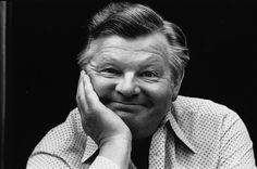 Benny Hill. I just love this photo of the great showman.