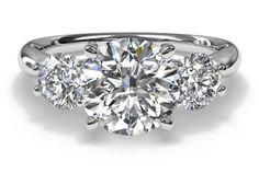#Ritani Three-Stone Diamond Engagement Ring