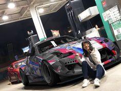 Nissan Z Cars, Nissan 350z, Tokyo Drift Cars, Vinyl Wrap Car, Slammed Cars, Street Racing Cars, Drifting Cars, Moda Casual, Tuner Cars