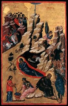 Page of The Nativity by UNKNOWN ICON PAINTER, Cretan in the Web Gallery of Art, a searchable image collection and database of European painting, sculpture and architecture Medieval, Life Of Christ, Web Gallery, Byzantine Art, Museum, European Paintings, Tempera, 14th Century, A Christmas Story