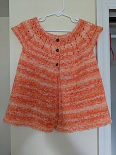 Ravelry: Girl's All-in-One Sleeveless Top pattern by marianna mel Kids Knitting Patterns, Baby Cardigan Knitting Pattern, Knitting For Kids, Baby Patterns, Baby Knitting, Crochet Baby, Baby Sweaters, Girls Sweaters, Cardigans