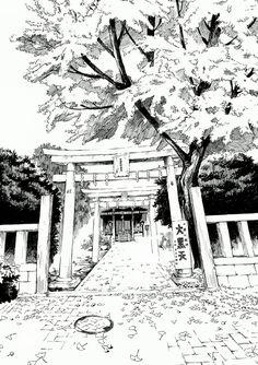 28-Kiyohiko-Azuma-Architectural-Urban-Sketches-and-Cityscape-Drawings-www-designstack-co