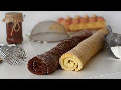 Blat de ruladă simplu și cu cacao, rețetă video | Retete ca la mama Romanian Desserts, Romanian Food, Sausage, Caramel, Sweets, Baking, Ethnic Recipes, Biscuit, Heart