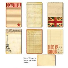 7 Gypsies - Lille Collection - Journal Pages - Life Is Good at Scrapbook.com $4.95