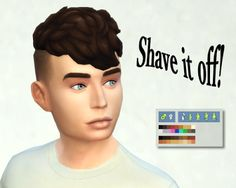 My Sims 4 Blog: GTW Male Hair Shaved by LMPIYP