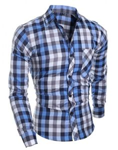 2017 New Arrival Classic Plaid Shirt Men Long Sleeve Slim Fit Brand Shirts  Dropshipping 9f0c66e3b75