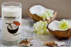 Hawaiian Coconut Candle - All Natural Soy Candles By Diamond Candles $24.95