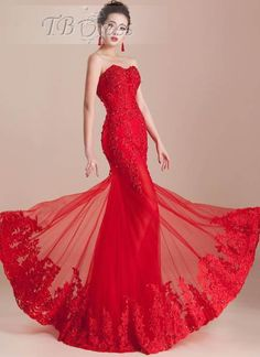 Tbdress.com offers high quality Mermaid Lace Appliques Beading Sweetheart Floor-Length Evening Dress Latest Evening Dresses unit price of $ 153.79.