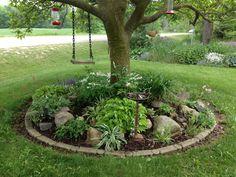 49 Popular Image for Summer Backyard Landscaping - Garten - Paisagismo Landscaping Around Trees, Landscaping With Rocks, Front Yard Landscaping, Landscaping Melbourne, Farmhouse Landscaping, Garden Yard Ideas, Garden Trees, Lawn And Garden, Garden Ideas Around A Tree