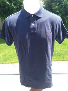 Navy Blue Short Sleeve Vintage Custom Fit Medium Ralph Lauren Polo by MajorDivision on Etsy https://www.etsy.com/listing/230813262/navy-blue-short-sleeve-vintage-custom