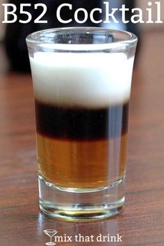-- this classic cocktail layers Kahlua, then Bailey's Irish Cream, and then Grand Marnier on top. The flavor of a is described by some bartenders as a little like caramel. Kahlua Drinks, Yummy Drinks, Alcoholic Drinks, Drinks Alcohol, Fun Drinks, Alcohol Shots, Alcohol Games, Refreshing Drinks, Irish Cocktails