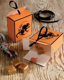 Halloween Clip-Art Candy Boxes - Martha Stewart Holiday & Seasonal Crafts