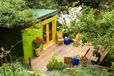Modern-Shed: Green Garden Oasis - Westcoast Outbuildings Garden Tool Shed, Garden Tool Storage, 10 By 12 Shed, Garden Oasis, Green Garden, Oasis Backyard, Prefab Sheds, Modern Shed, Outdoor Spaces