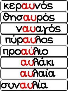 Learn Greek, Greek Language, Grammar Worksheets, School Hacks, Grade 1, Special Education, Alphabet, Classroom, Teacher
