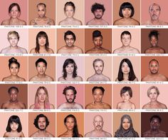 Check Out Humanae, A Diversity Portrait Project.  This is a really cool project that shows how diverse people are even within our own races.