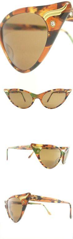 Eyeglasses 175805: Vintage Cat Eye Glasses Eyeglasses Sunglasses Frame Eyewear Marbled Brown Green -> BUY IT NOW ONLY: $140 on eBay!