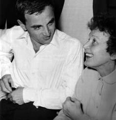 Singer Charles Aznavour with Edith Piaf
