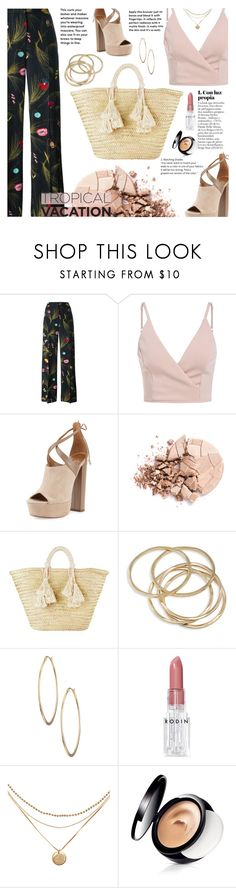 """""""Tropical Style"""" by clo-23 ❤ liked on Polyvore featuring Fendi, Aquazzura, Anastasia Beverly Hills, Giselle, ABS by Allen Schwartz, Lydell NYC, Rodin and mark."""
