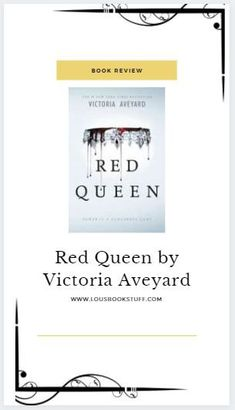 Check out my review for Red queen on my blog! A fast paced Dystopian fantasy that I am kicking myself for not reading sooner. Interesting, well developed characters and plot twists galore await you!