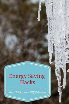 Energy Saving Hacks: Tips, Tricks, and DIY solutions. Make your home more comfortable, save money, and help the environment! Sponsored post.  What are your favorite energy saving hacks?