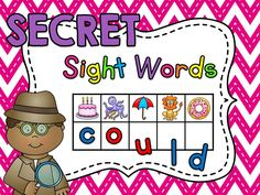 SECRET Sight Words!! Over 330 sight words included where kids look at the beginning sound of each picture to figure out the secret sight word - LOVE LOVE LOVE! Could laminate & use dry erase markers, bottle caps with letters written on them, alphabet magnets, anything..!