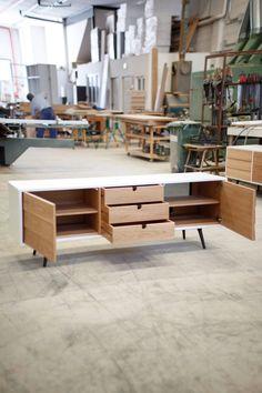 Sideboard dresser cupboard credenza in oak media by Habitables