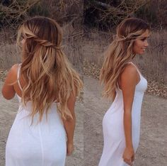 ombré half up half down hairstyle