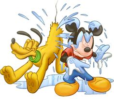Mickey Mouse and Pluto Clip Art