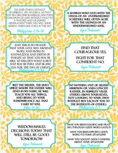 "The Blogging Pastors Wife: Printable Verse and Quote Cards from ""The Best Yes..."
